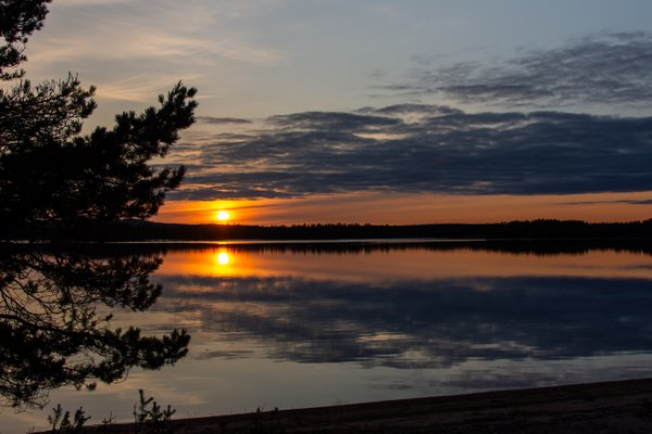 Sunset over Hietajärvi thumbnail