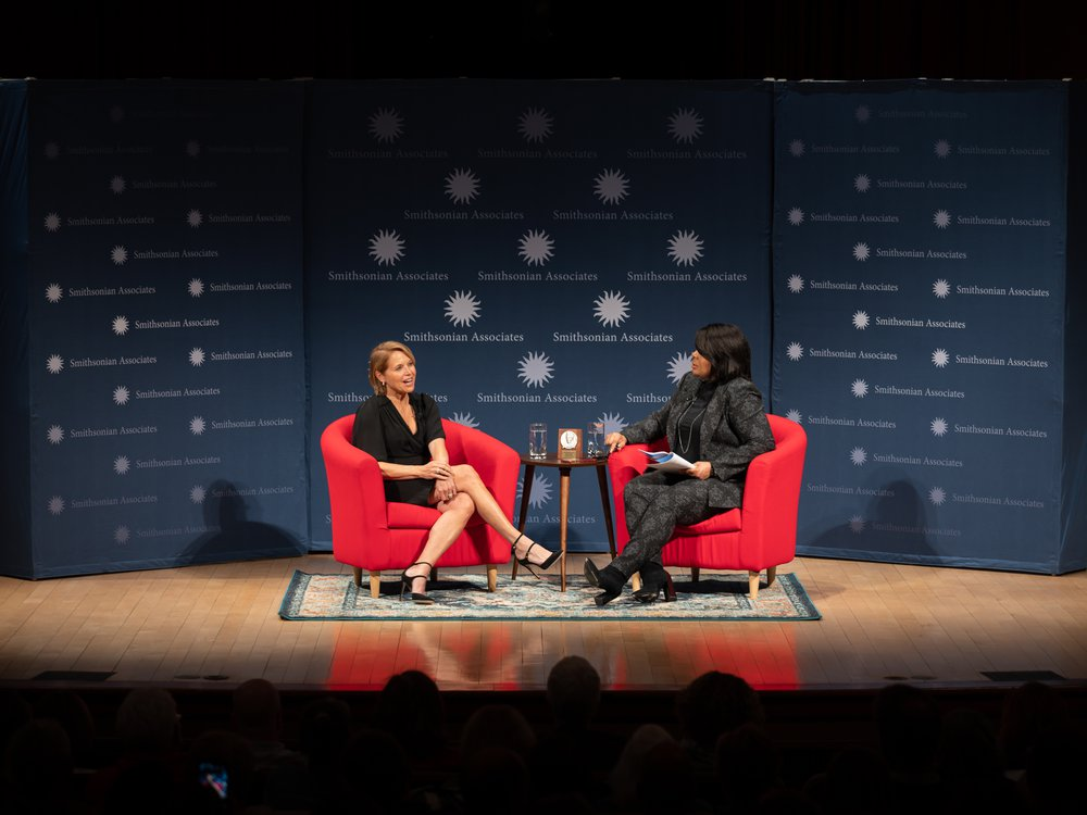 Katie Couric and April Ryan in conversation at the Smithsonian Associates John P. McGovern Award presentation on Nov. 12, 2019. (Norwood Photography)