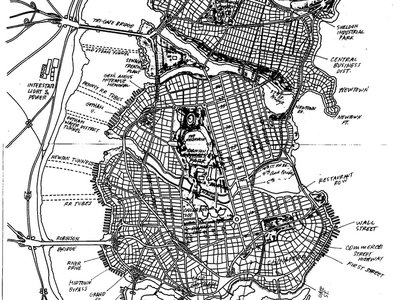 Eliot R. Brown's hand drawn map of Gotham.