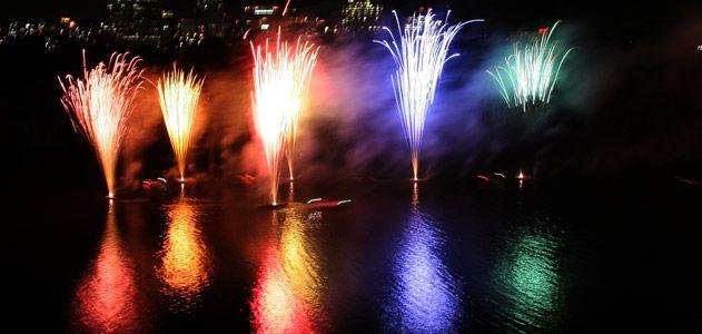 fireworks show over Washington D.C.s Potomac river