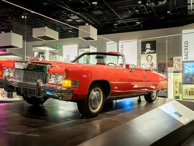 The 1973 Cadillac Eldorado convertible was driven on stage for the big superstar tribute concert for Chuck Berry in the 1987 film Hail! Hail!