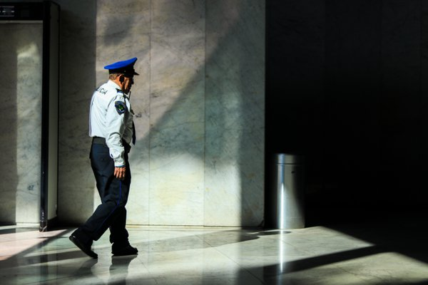 An officer at the National Museum of Anthropology in Mexico City thumbnail