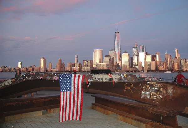 Jersey City's Exchange Place Waterfront on the 15th Anniversary of 9-11 thumbnail