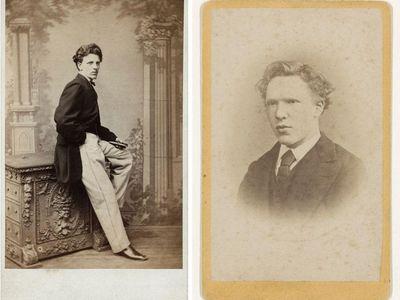 "L to R: Paul Stabler, ""Charles Obach"" (circa 1870–79) and Jacobus de Louw, ""Vincent van Gogh"" (1873)"