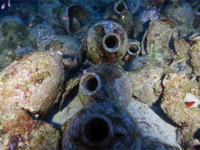 The Fiscardo wreck's amphorae are exceptionally well-preserved.