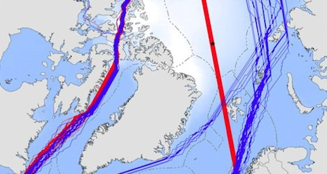 Rapidly melting sea ice