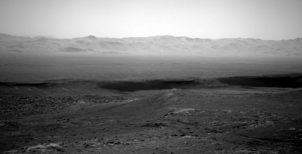Mars horizon from Gale Crater