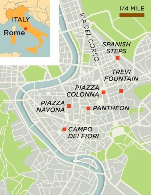 Rome Italy map