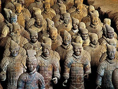 The 1974 discovery of buried vaults at Xi'an filled with thousands of terra cotta warriors stunned the world.