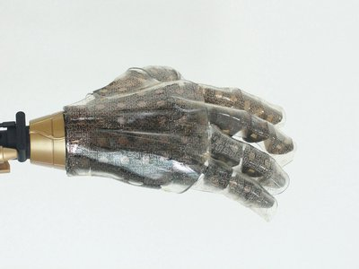 Stretched over a prosthetic hand, this artificial skin acts more like the real thing than anything before it.