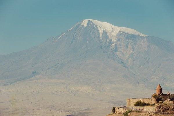 Khor Virap Monastery on the background of Mount Ararat thumbnail