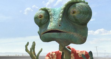 Rango (Johnny Depp) in Rango, from Paramount Pictures and Nickelodeon Movies