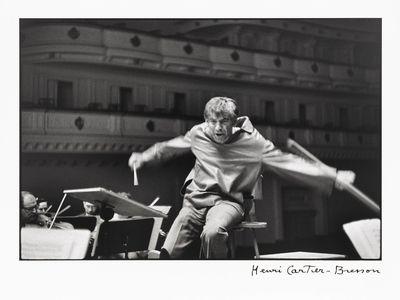 Leonard Bernstein, Carnegie Hall, New York City by Henri Cartier-Bresson, 1960 goes on view at the National Portrait Gallery on Bernstein's 100th birthday, August 25, 2018.