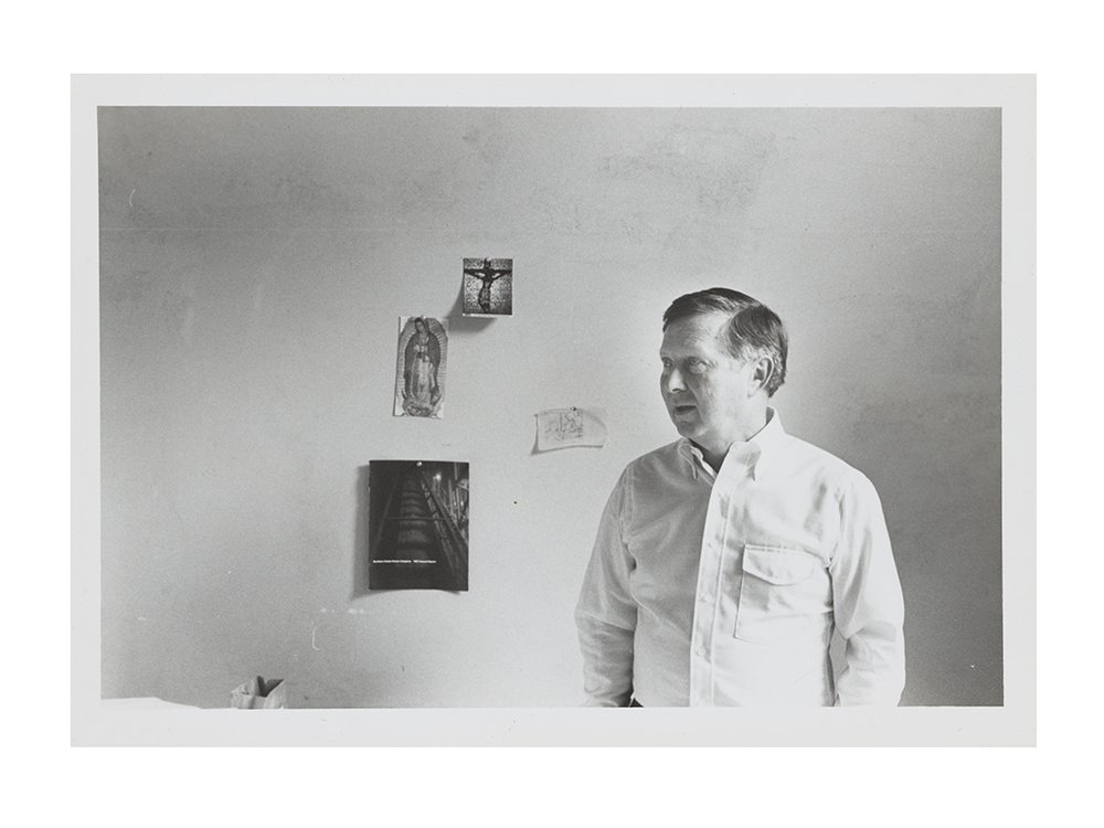 Photograph of George Tooker, 198-? / unidentified photographer. George Tooker papers, circa 1851-2010. Archives of American Art, Smithsonian Institution.