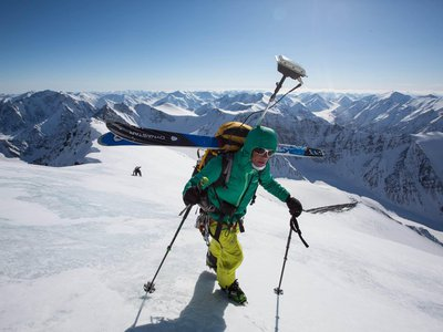 Ski mountaineering legend Kit DesLauriers ascends Mt. Isto, the new highest peak in the Brooks Range