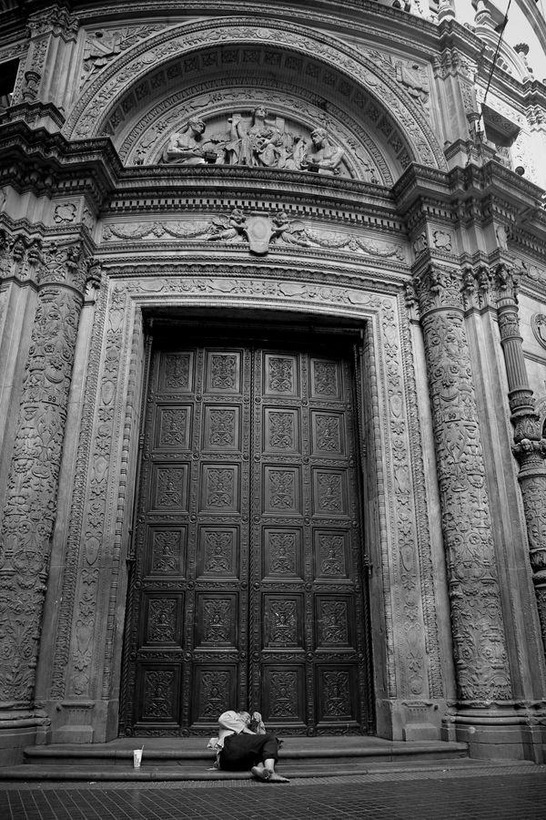 At the doors of the bank thumbnail