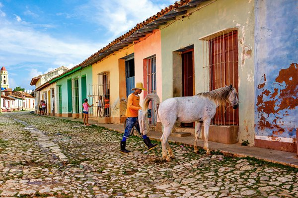 A typical colonian street in Trinidad, Cuba thumbnail