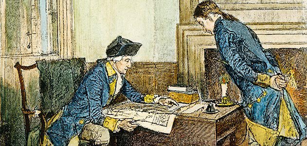 Hale receives instructions from Washington