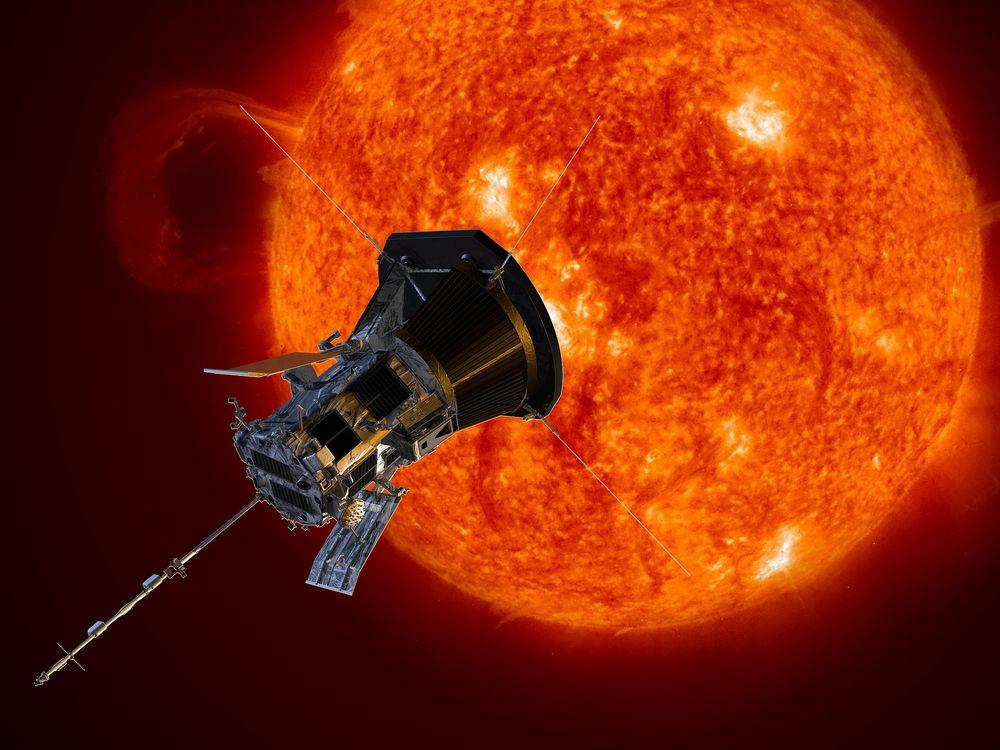 An artist rendition of NASA's Parker Solar Probe near the Sun