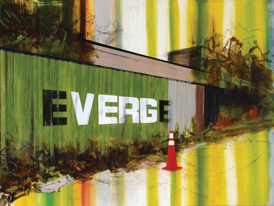 Evergreen, 2008, Acrylic and charcoal on paper 22 1/2 x 30 inches (57.15 x 76.2 cm)