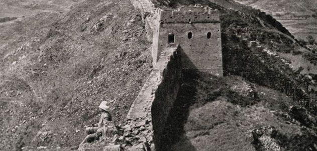 William Edgar Geil on the Great Wall at Luowenyu