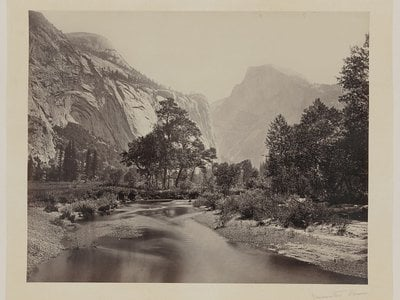 Images of Yosemite, like this one taken circa 1865, helped increase public appetite for the park.