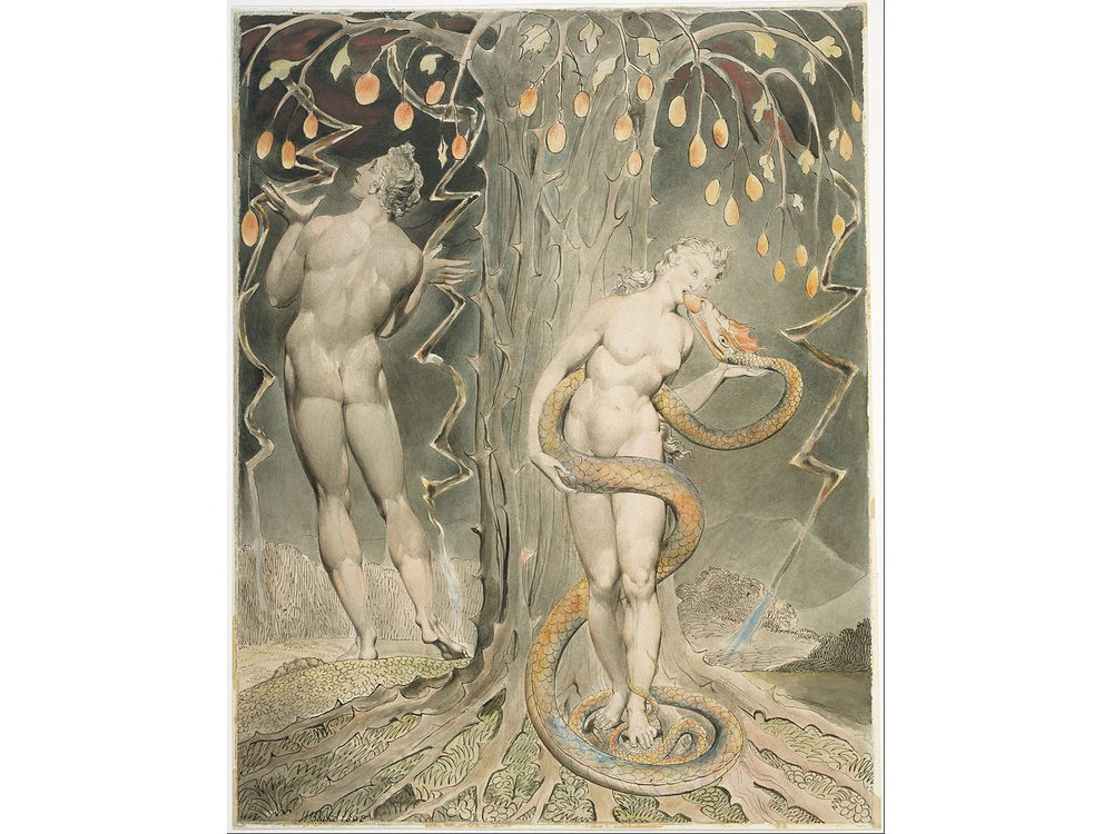 William_Blake_-_The_Temptation_and_Fall_of_Eve_(Illustration_to_Milton's__Paradise_Lost_)_-_Google_Art_Project.jpg