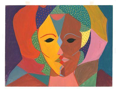 Triple-Face Portrait by Sylvia Plath, c. 1950-1951