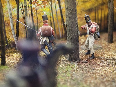A diorama at the River Raisin visitor center depicts the war's northern front.