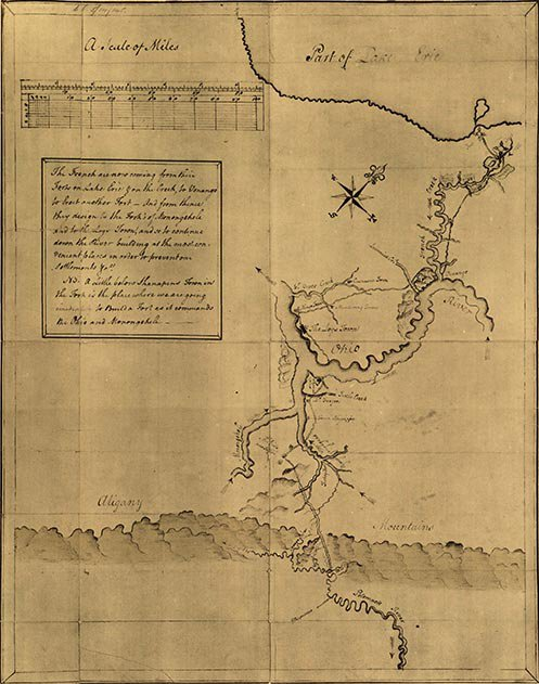 Washingtons map of the frontier
