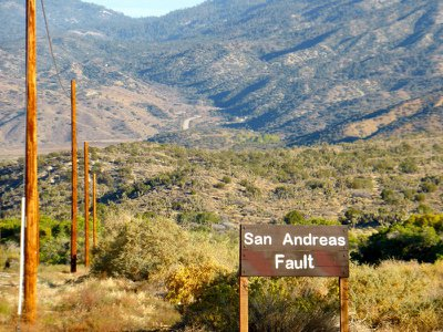 The San Andreas Fault, cause of countless big quakes.