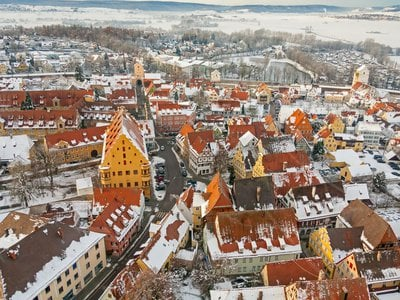 Nördlingen is located in a crater in southern Germany.
