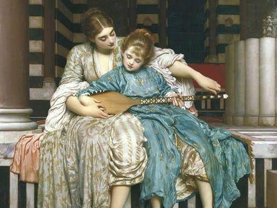 "Frederic Leighton, ""The Music Lesson,"" 1877"