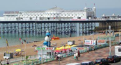 Brighton England beach