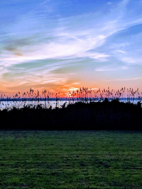 Mother Nature's color show - sunset over West Passage in Jamestown, RI thumbnail