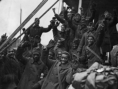 Members of the 369th [African American] Infantry