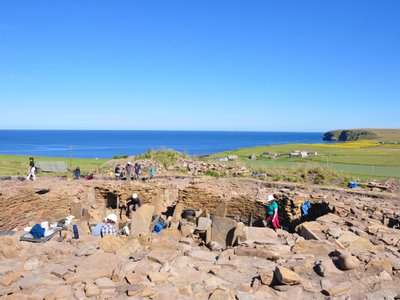 The Cairns Broch site in Orkney, Scotland