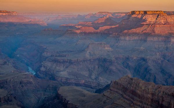 Fire on the rim, Grand Canyon National Park, AZ USA thumbnail