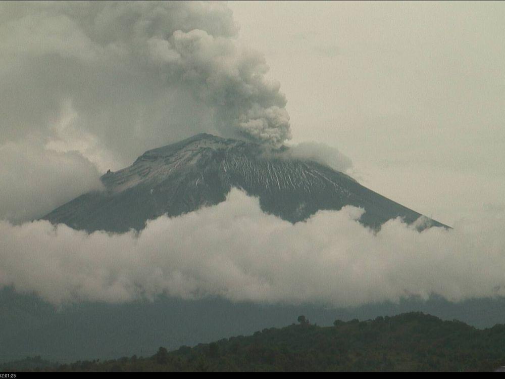 Popocatépetl eruption on July 8, 2013