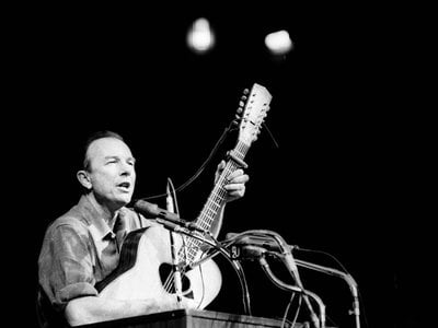 The six CD set Pete Seeger: The Smithsonian Folkways Collection by Smithsonian Folkways Recordings won a Grammy in the category for Best Historical Album. The set includes some well-known, not-so-well-known, and previously unreleased recordings spanning Seeger's career.