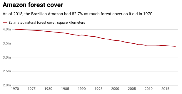 The Amazon Has Lost More Than Ten Million Football Fields of Forest in a Decade
