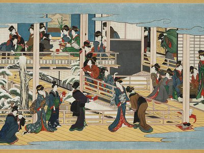 Snow at Fukagawa by Kitagawa Utamaro (1753–1806), Japan, Edo period, ca. 1802–6