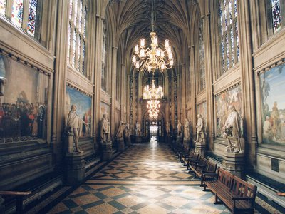 Parliament's halls are lined with art.