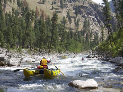 Rafters on the South Fork of the Salmon River in Idaho