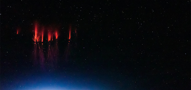 Sprites over Red Willow County, Nebraska, on August 12, 2013