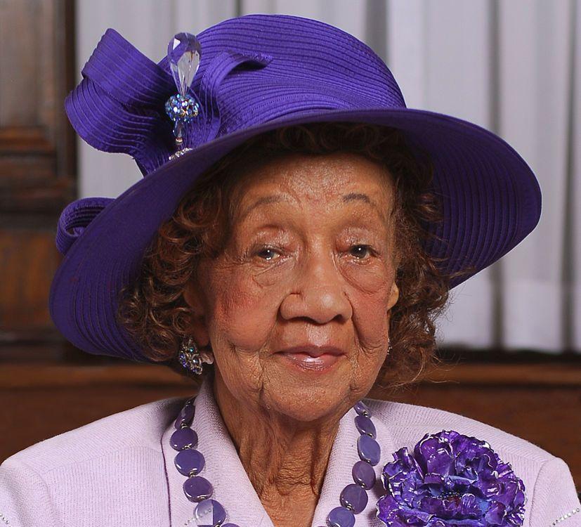 Portrait of Dr. Dorothy Height taken in June 2008