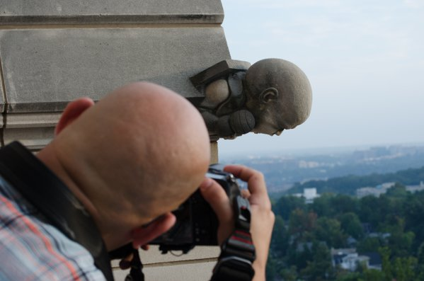 Photographing the gargoyle thumbnail