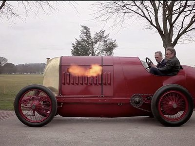 The historic 1910 Fiat S76 rides!