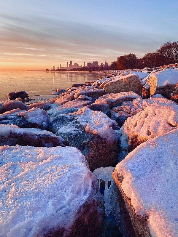 Sunrise at Montrose Harbor thumbnail
