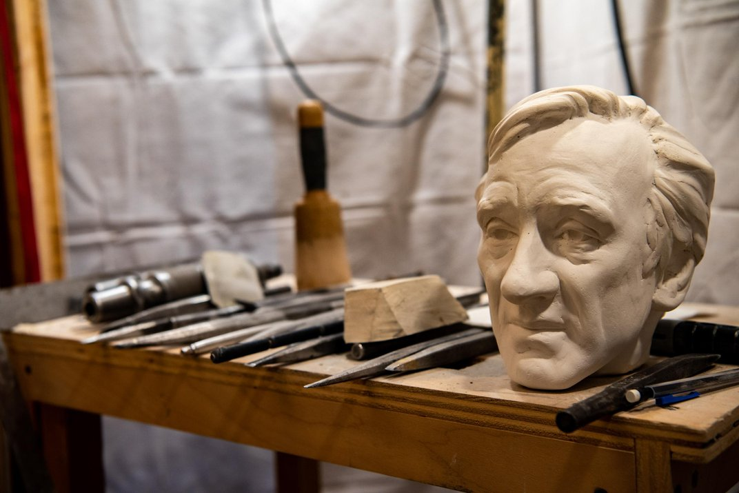 National Cathedral Unveils Carving of Elie Wiesel, Nobel Laureate and Chronicler of the Holocaust